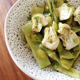 recept za salatu od artičoka i mahuna