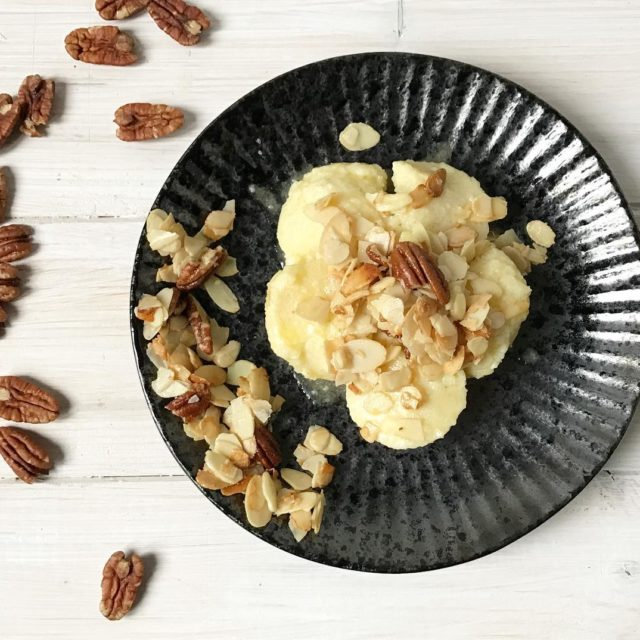 Sweet Fresh cheese dumplings with almond pecans and some otherhellip