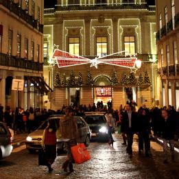 ulice Lisabona u doba Adventa