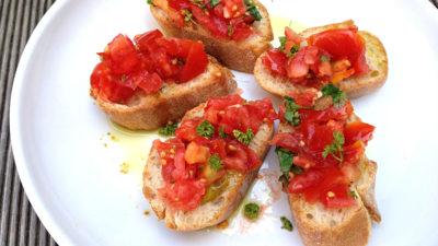 recept za bruskete s rajčicom
