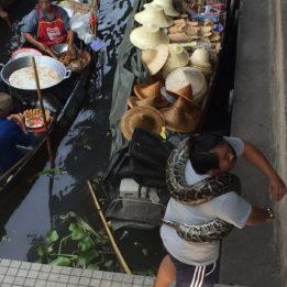 Tajland plutajuća tržnica Damnoen Saduak