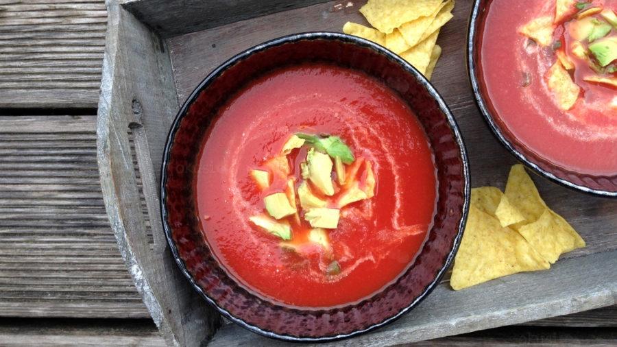 recept za meksičku juhu od rajčica i tortilje