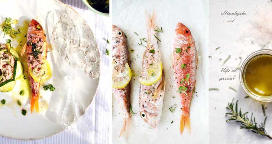 ribe i rizoto od tikvica i sparoga