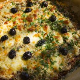 LCHF Pizza pečena