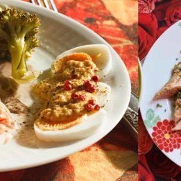 LCHF recept za pečeni losos s povrćem