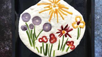 recept za kruh pogaču s ukrasima cvjetna livada