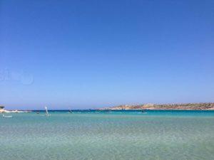 chicken bay laguna u Afiartisu na otoku Karpathosu je raj za jedrenje na dasci