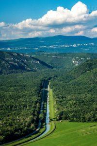 Motovun pogled na dolinu rijeke Mirne, Motovunsku šumu