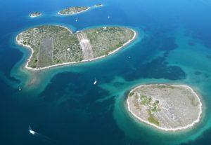 Otok u obliku srca - Galešnjak, Zadar