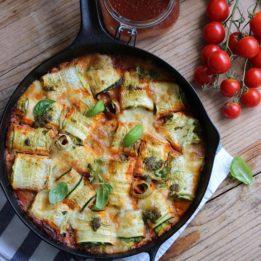 Recept za zarolane tikvice s domaćim umakom od rajčica