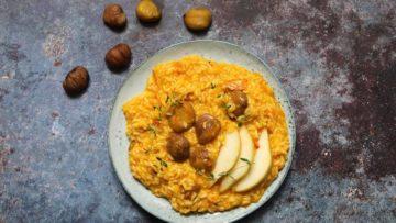 recept za rižoto od tikve kestena i kruške