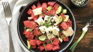 recept za salatu od lubenice s feta sirom